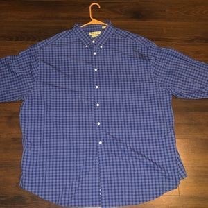 Roundtree And Yorke Dress Shirt Blue 3xl or 19